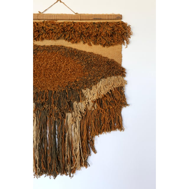 Mid-Century Modern 1970s Sculptural Wall Hanging Fiber Art For Sale - Image 3 of 9