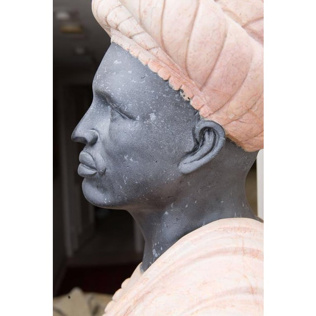 Marble Bust of Moor For Sale In West Palm - Image 6 of 8