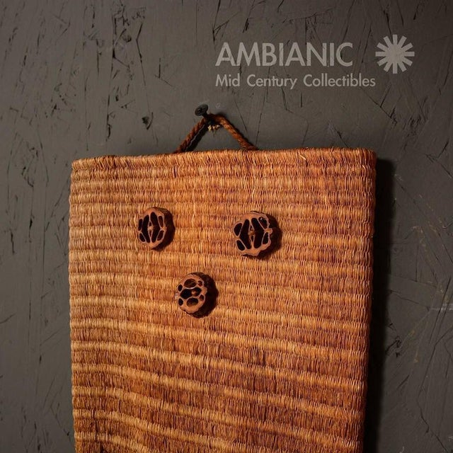 Mid 19th Century Wall Hanging Native American Woven Bag For Sale - Image 5 of 5