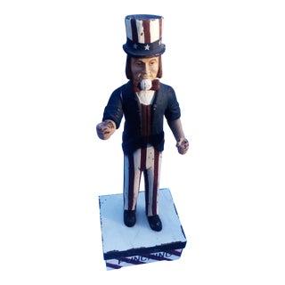 Hand Carved Wooden Uncle Sam