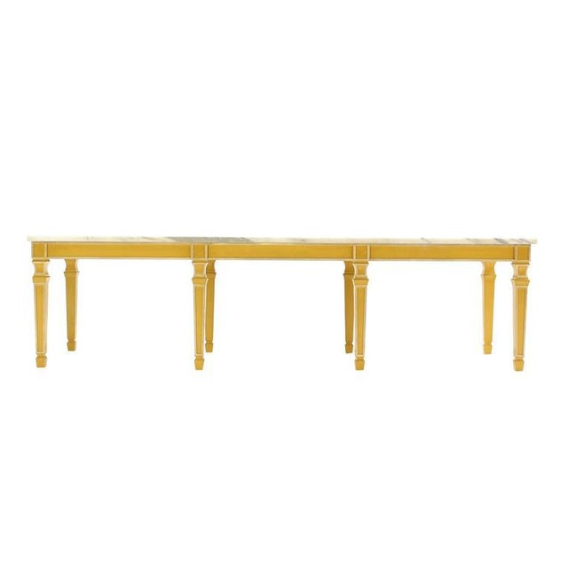 Eight Legged Marble-Top Long Rectangular Coffee Display Table For Sale In New York - Image 6 of 7
