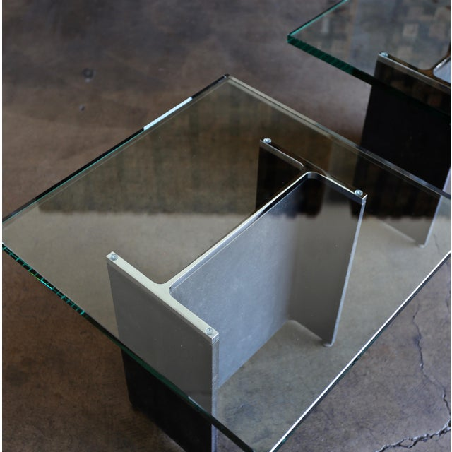 Mid-Century Modern Gerald McCabe I Beam Side Tables Circa 1965 - a Pair For Sale - Image 3 of 13