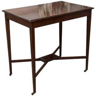 Regency Mahogany X Base Side Table For Sale