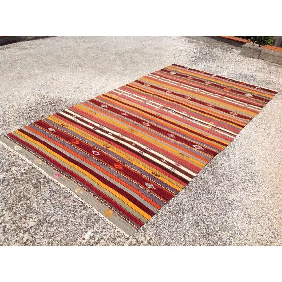 Vintage Turkish Kilim Rug - 5′10″ × 10′7″ - Image 3 of 6