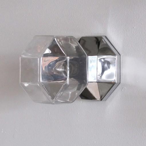 Motoko Ishii for Staff Leuchten Modulare Chrome and Glass Light For Sale - Image 10 of 10