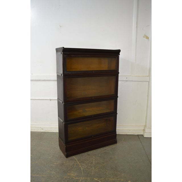Globe Wernicke Antique Mahogany 4 Section Barristers Stacking Bookcase - Image 2 of 13