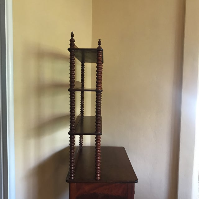 Queen Anne Late 19th Century Antique Spool Turned Desk Etagere For Sale - Image 3 of 13