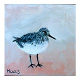 Image of Original Shorebird Oil Painting For Sale