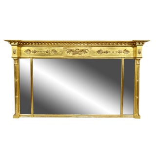 Regency Giltwood Mantle Mirror For Sale