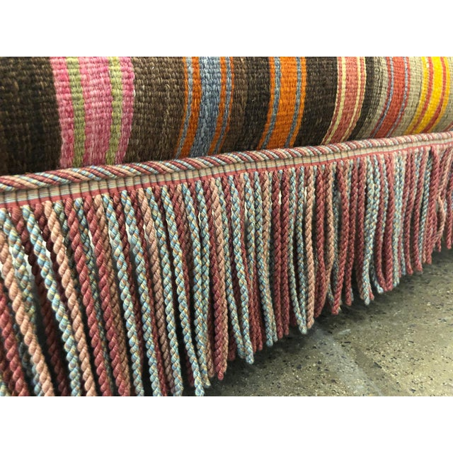 1950s Custom Made Sofa in Vintage Flat Woven Kilim For Sale - Image 5 of 11