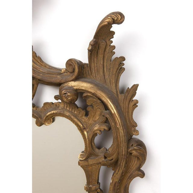 Italian Baroque Style Carved Giltwood Mirror, 19th Century For Sale - Image 4 of 5