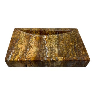 Waterstone Dark Travertine Soap Dish For Sale