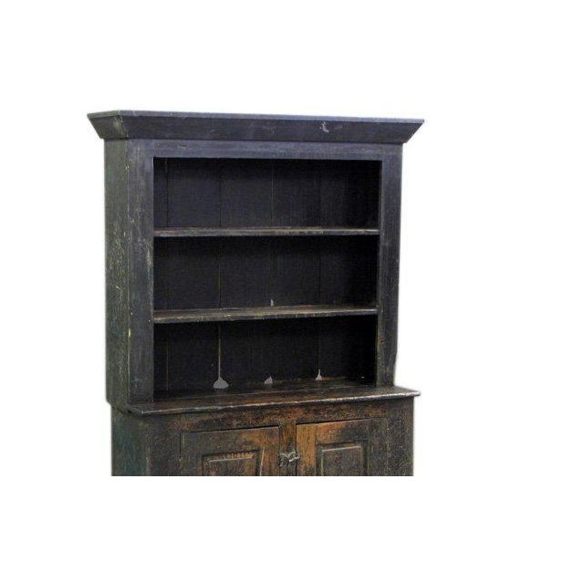 Handsome 19th century american cabinet with wonderful old painted finish.