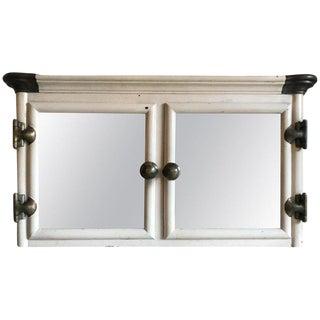 1930s Art Deco Cast Iron Wall Mount Bathroom Medicine Cabinet For Sale