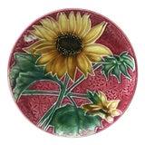 Image of 1900s Vintage Majolica Sunflower Plate Villeroy & Boch For Sale