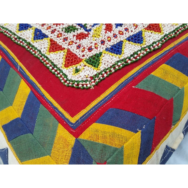 Hand Beaded Rajasthani Pillow For Sale - Image 5 of 6