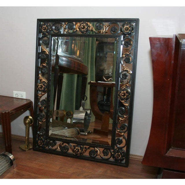 Art Deco Mirror Attributed to Poillerat For Sale In New York - Image 6 of 6
