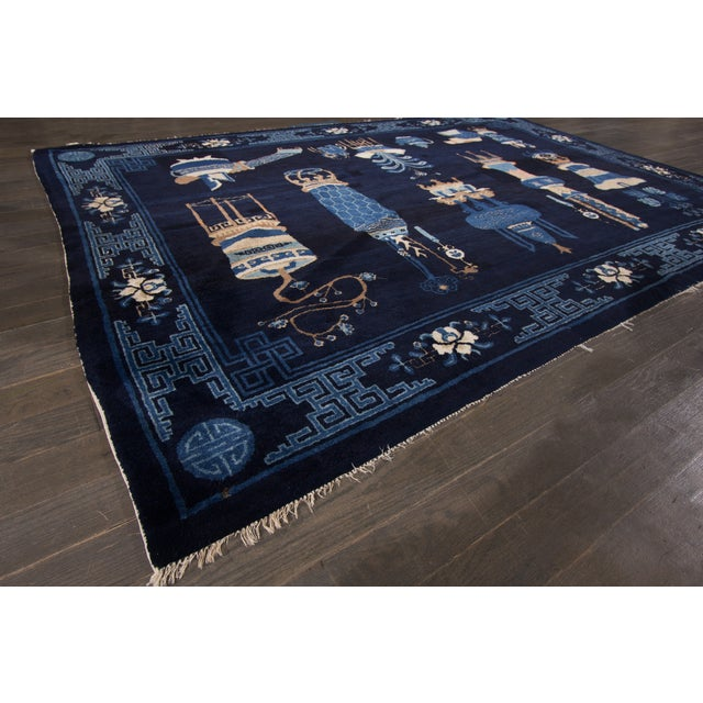 """Chinese Art Deco Apadana Rug - 5'4"""" x 7'9"""" For Sale In New York - Image 6 of 6"""