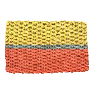 "Recycled Lobster Rope Doormat: ""Peaks"""