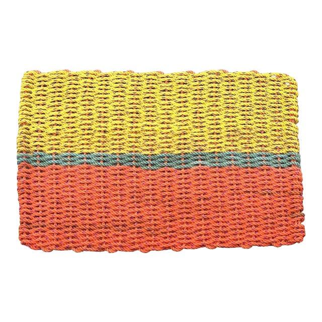 """Recycled Lobster Rope Doormat: """"Peaks"""" - Image 1 of 4"""