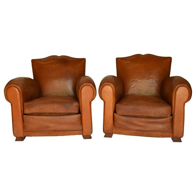1930s Leather Moustache Leather Club Chairs - a Pair For Sale - Image 13 of 13
