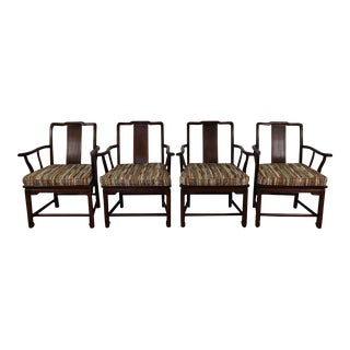 Vintage Chinese Teakwood Dining Chairs - Set of 4 For Sale