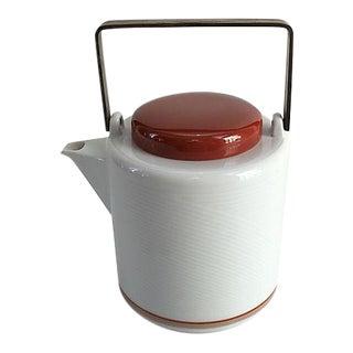 Mid-Century Dansk Jack Lenor Larsen Porcelain Teapot For Sale