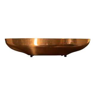 Vintage Mid-Century Coppercraft Copper Serving Tray Bowl For Sale