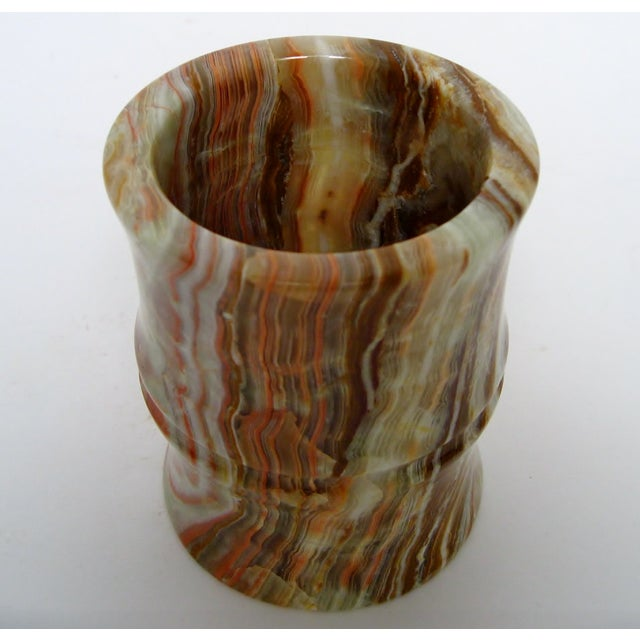 Carved Agate Pen Holder - Image 7 of 8