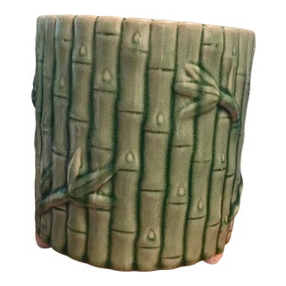 Vintage Faux Bamboo Planter For Sale