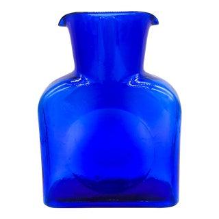 Blenko Cobalt Blue Glass Carafe / Vase For Sale