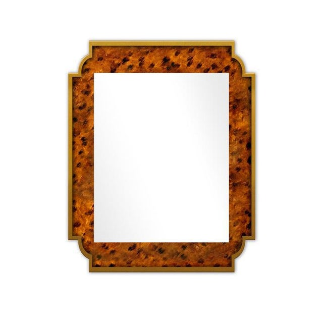 Contemporary Fleur Home x Chairish Camp Mirror in Tortoise, 24x36 For Sale - Image 3 of 3
