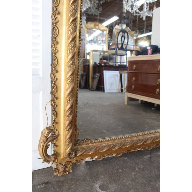 Wood 18th Century Antique French Louis Philippe Mirror For Sale - Image 7 of 8