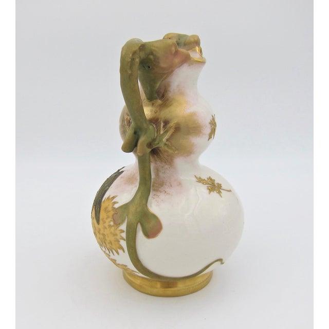 Ceramic Late 19th Century Austrian Art Nouveau Amphora RStK Ivory Porcelain Vase With Dragon Handles For Sale - Image 7 of 13