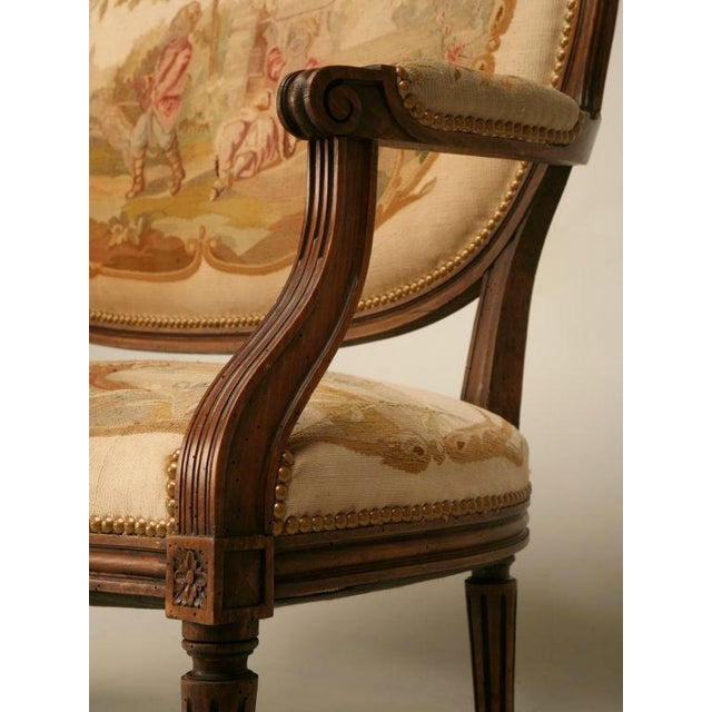 Louis XVI Aubusson Upholstered Settee - Image 5 of 11