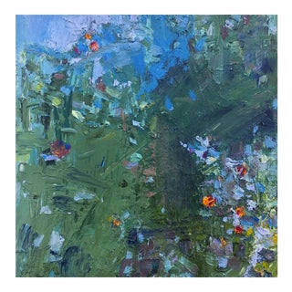 """""""In My Garden"""" Abstract Landscape Painting"""