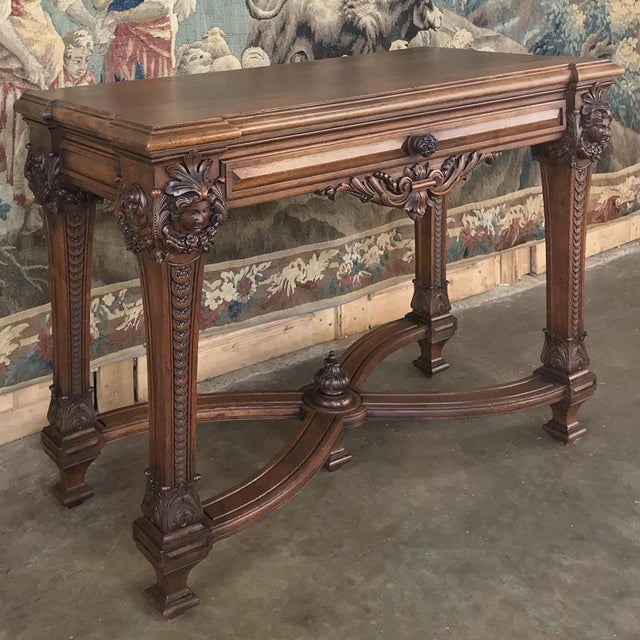 Brown 19th Century French Louis XIV Walnut Console For Sale - Image 8 of 13