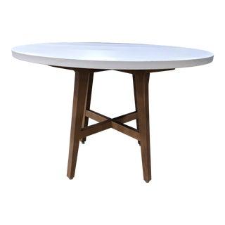 Scandinavian Modern West Elm White Modern Table For Sale