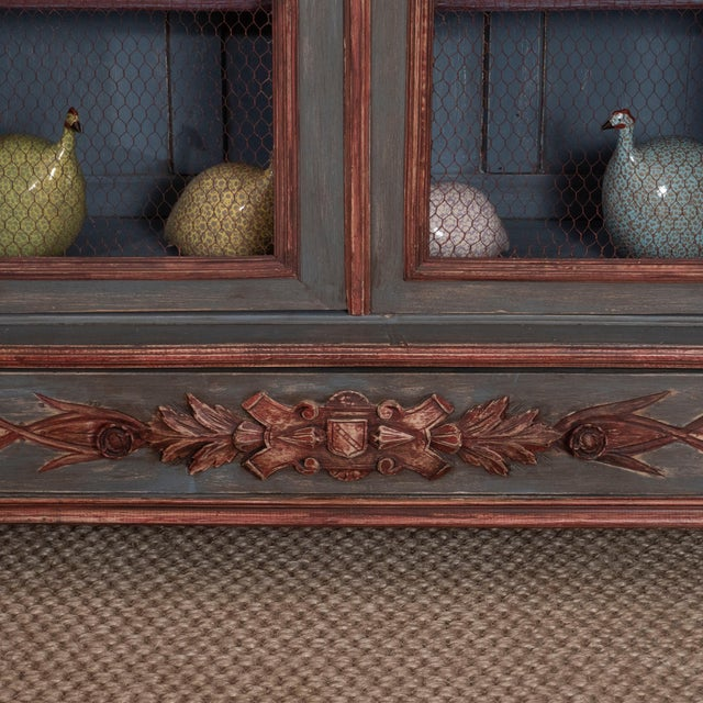 Early 20th Century French Painted Bibliotheque For Sale - Image 5 of 10