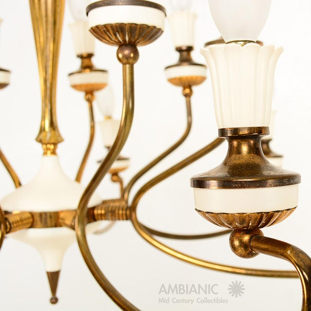 16 Arm Italian Chandelier For Sale In San Diego - Image 6 of 10