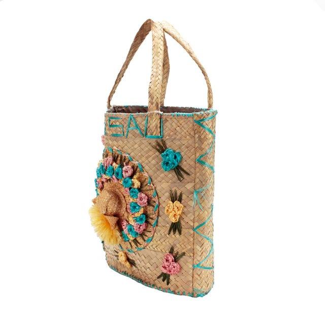 Vintage Woven Nassau Tote Bag Souvenir For Sale - Image 4 of 7
