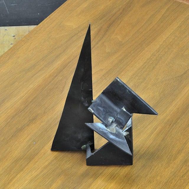 1960s Vintage 1960s-1970s Studio Craft Brutalist Welder Table Sculpture For Sale - Image 5 of 6
