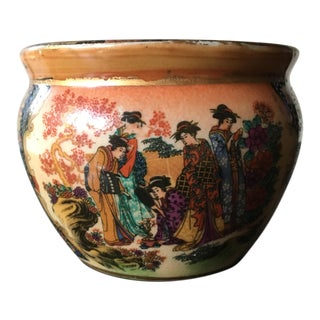 Handpainted Miniature Asian Fishbowl Vase