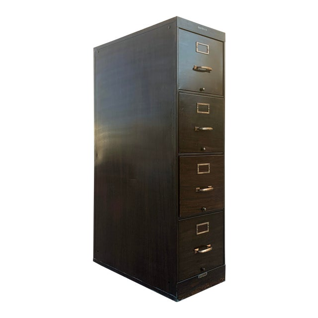 Shaw Walker Vertical 4-drawer File Cabinet For Sale