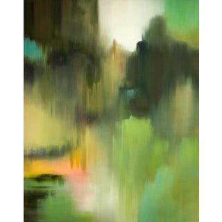 Liz Dexheimer Seasonal Curtain Moss Abstract Landscape 2017 For Sale