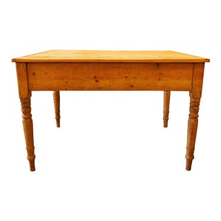 1910s French Country Pine Kitchen Table For Sale