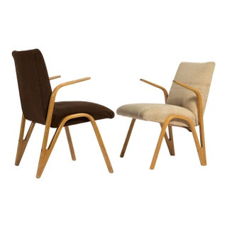 Vintage Mid Century Paul Bode for Deutsche Federholzgesellschaft Armchairs- A Pair For Sale