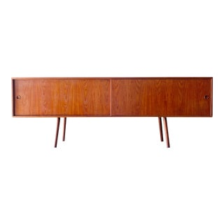 Danish Mid Century Modern Console or Credenza by Lovig For Sale