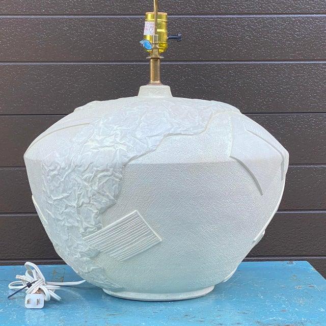 Postmodern Bon Art Postmodern Plaster Table Lamp For Sale - Image 3 of 13