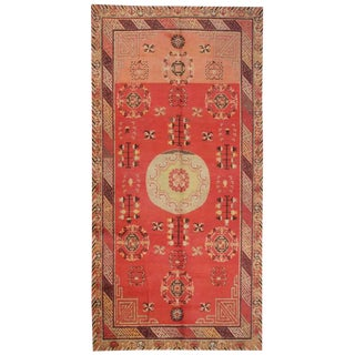 "Antique Central Asian Khotan Rug - 4'5"" x 9' For Sale"